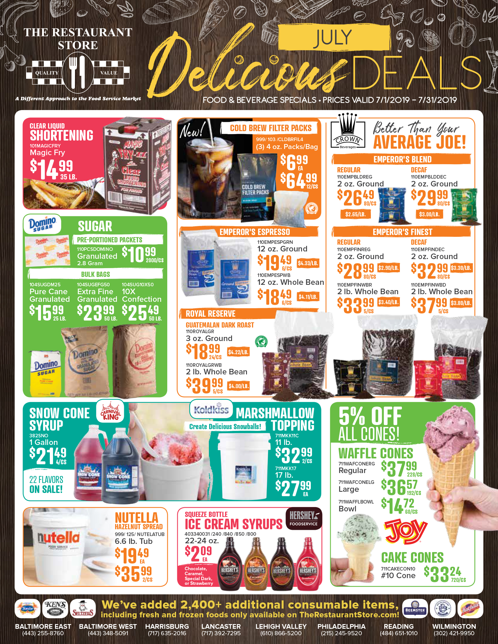 July 2019 Consumable Flyer