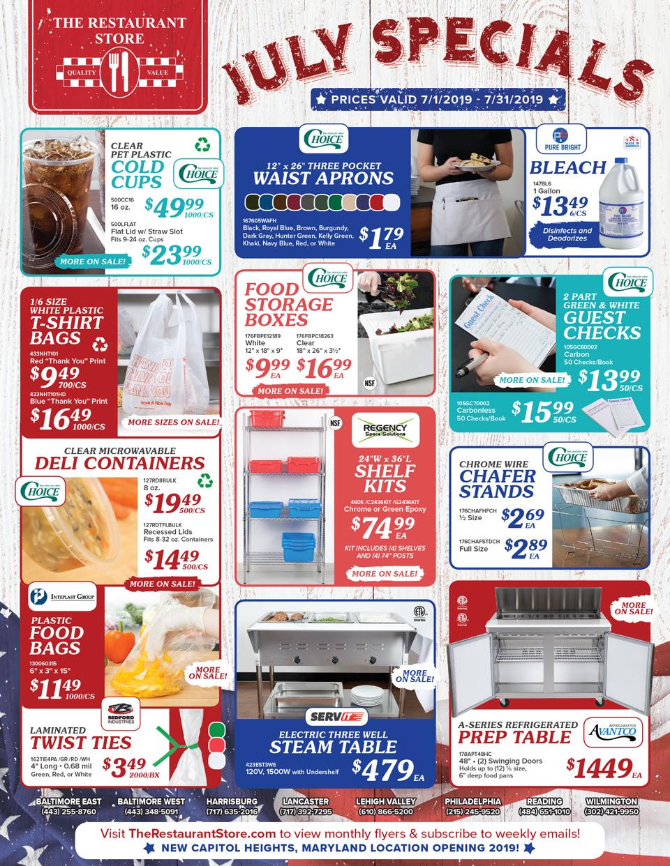 July In Store Flyer